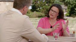 Andrea Nahles im ZDF: Als Kritik am SPD-Kurs aufkommt, blockt die Vorsitzende ab