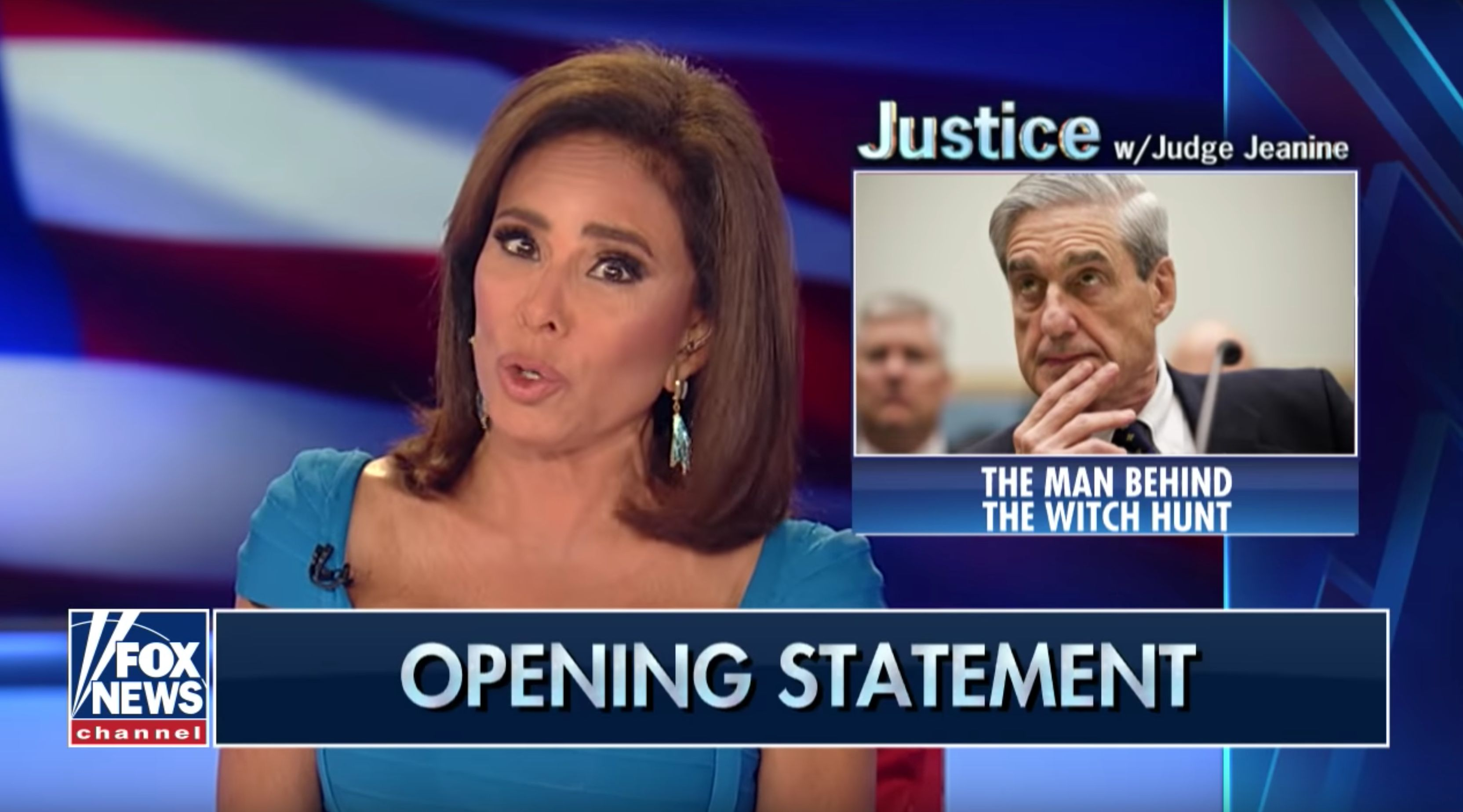 Fox News Judge Jeanine Pirro Tries To Sully Robert Mueller Over Benghazi