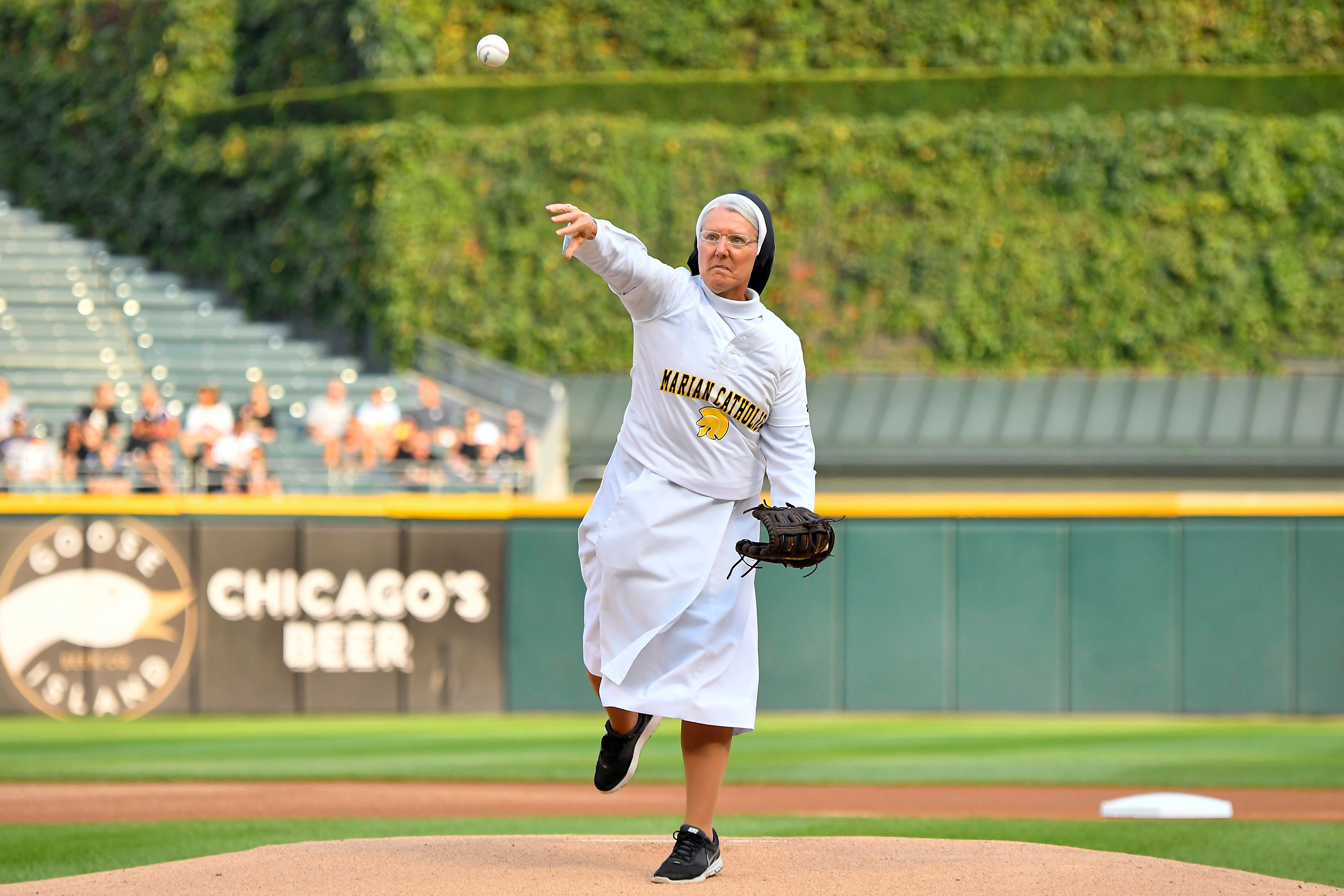 Sister Mary Jo Sobieck delivered a tantalizing pitch.