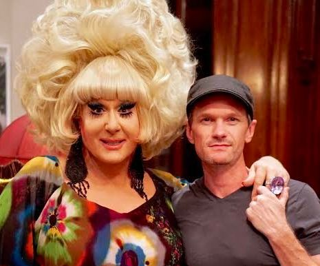 """Neil Patrick Harris (on right, with drag icon Lady Bunny) praised the original Wigstock for """"breaking down stereotypes and helping everyone to love and understand each other more."""""""