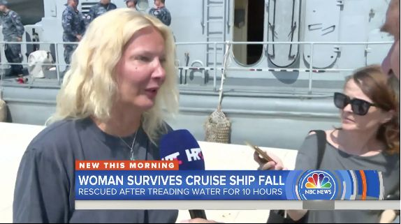 British Woman Fell Off Cruise Ship In Croatia, Treaded Water For 10 Hours To Stay