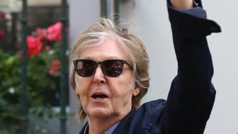 LONDON, ENGLAND - JULY 23:  Paul McCartney seen leaving The Abbey Road Studios after performing a secret gig on July 23, 2018 in London, England.  (Photo by Neil Mockford/GC Images)