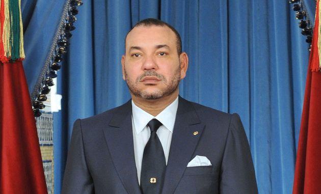 Le roi Mohammed VI prononce un discours lors du 58e anniversaire de la Révolution du roi et du...