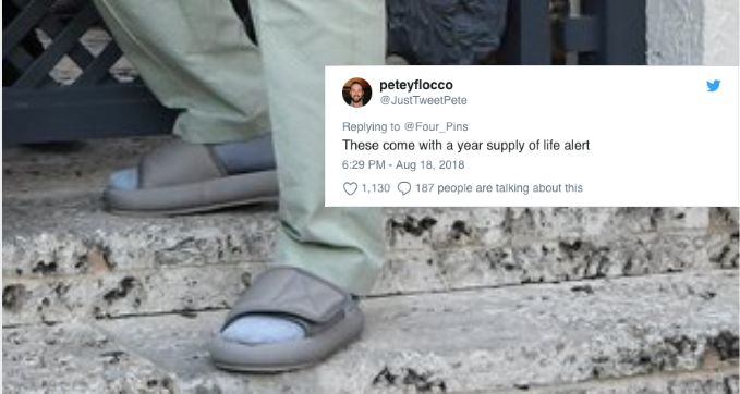 Twitter Roasts Kanye West For Wearing Super Small Yeezy