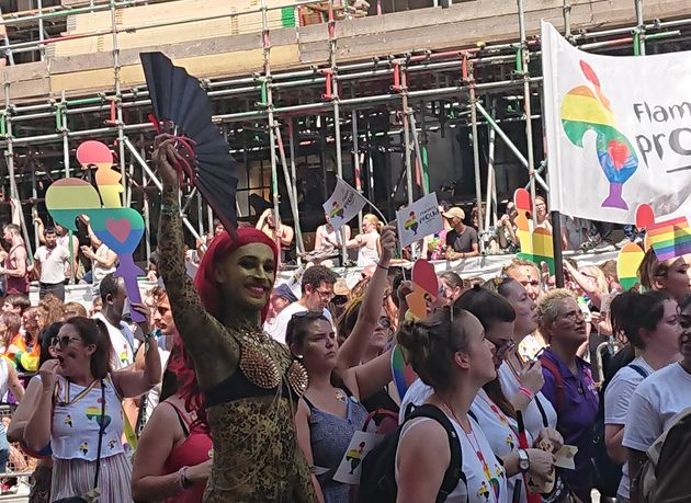 'Flaming Proud' - Nando's. London Pride Parade. July 7,