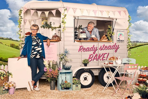 Prue with her fellow 'Bake Off' judge Paul Hollywood