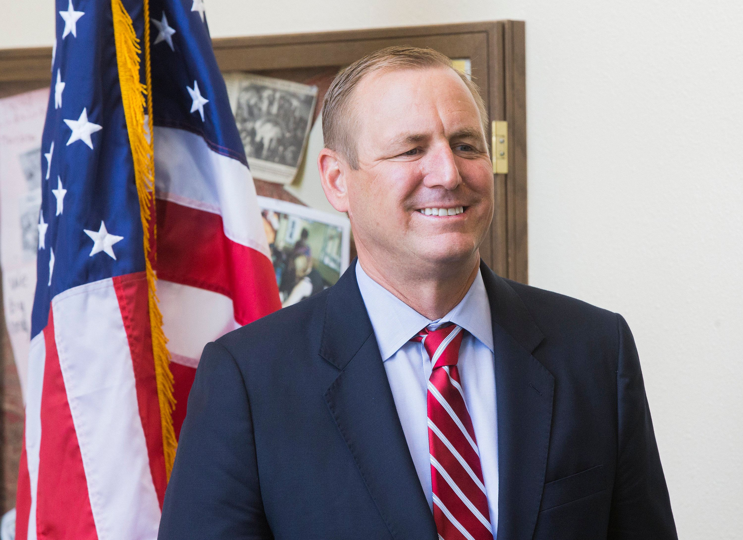 Democrats are taking aim at the image Rep. Jeff Denham has cultivated in the farm-heavy Central Valley.