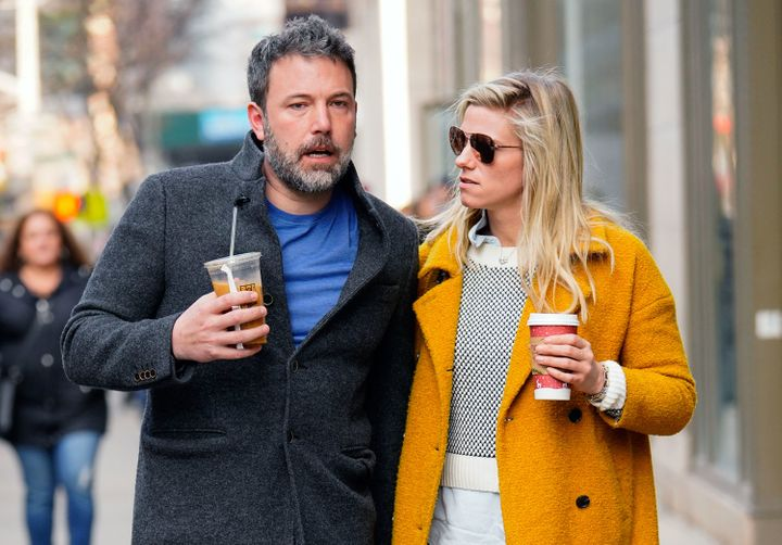 Ben Affleck and Lindsay Shookus pictured in New York City together in January.