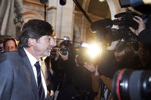 L'ex directeur adjoint de la police judiciaire de Lyon, Michel Neyret lors de son procès à...