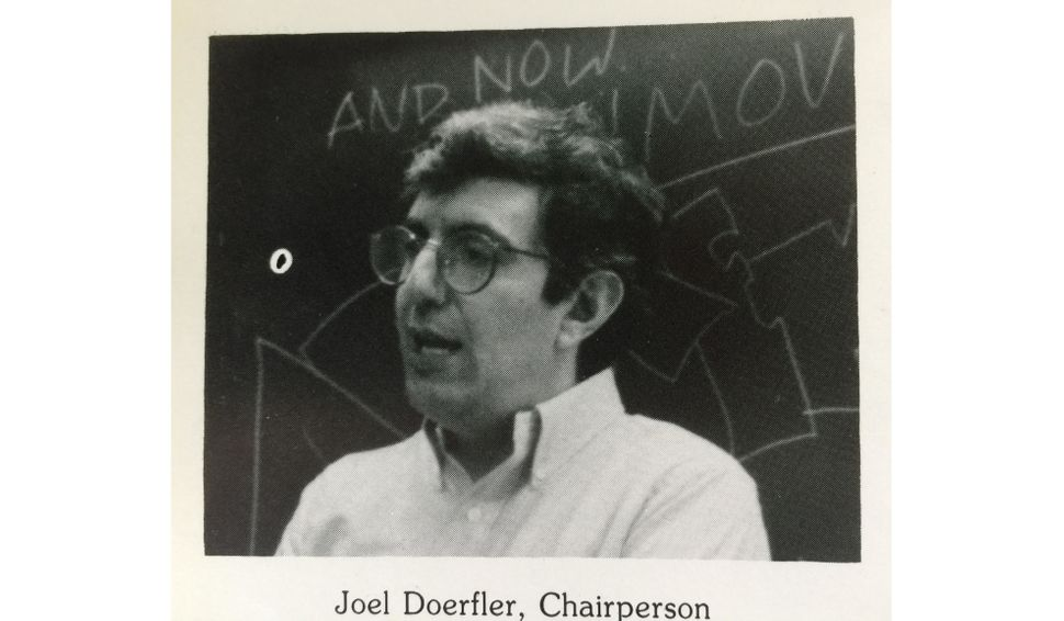 Doerfler at Columbia Prep in the late 1980s, from the author's yearbook.