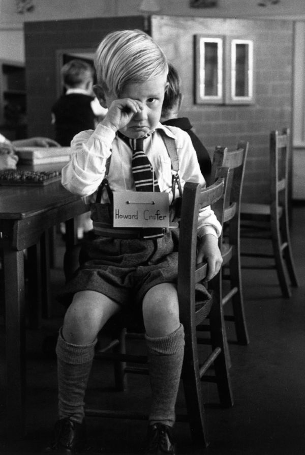 Five-year-old Howard Crafter has a tough time adjusting at the St. Nicholas County school, also circa 1952.