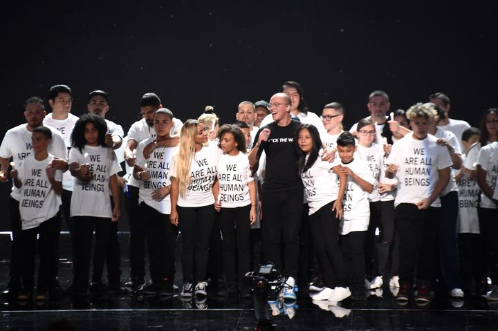Logic performs onstage during the 2018 MTV Video Music Awards.