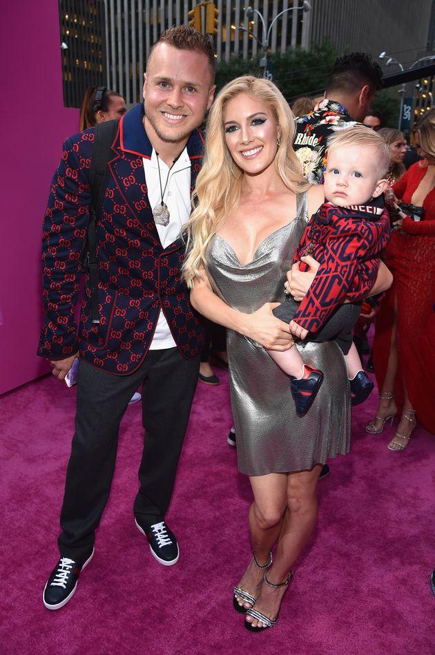 Spencer Pratt, Heidi Pratt and son Gunner Pratt attend the 2018 MTV Video Music