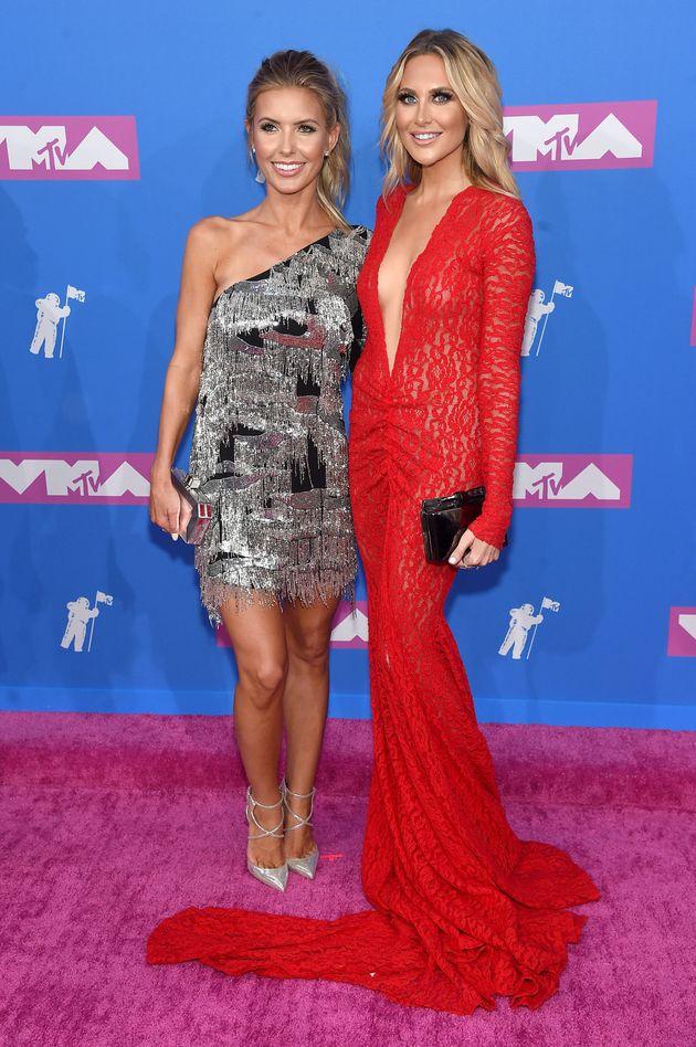 Audrina Patridge and Stephanie Pratt attend the 2018 MTV Video Music Awards at Radio City Music
