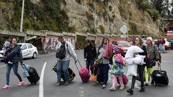 베네수엘라 시민들이 경제난을 피해 국가 탈출을 시도하고