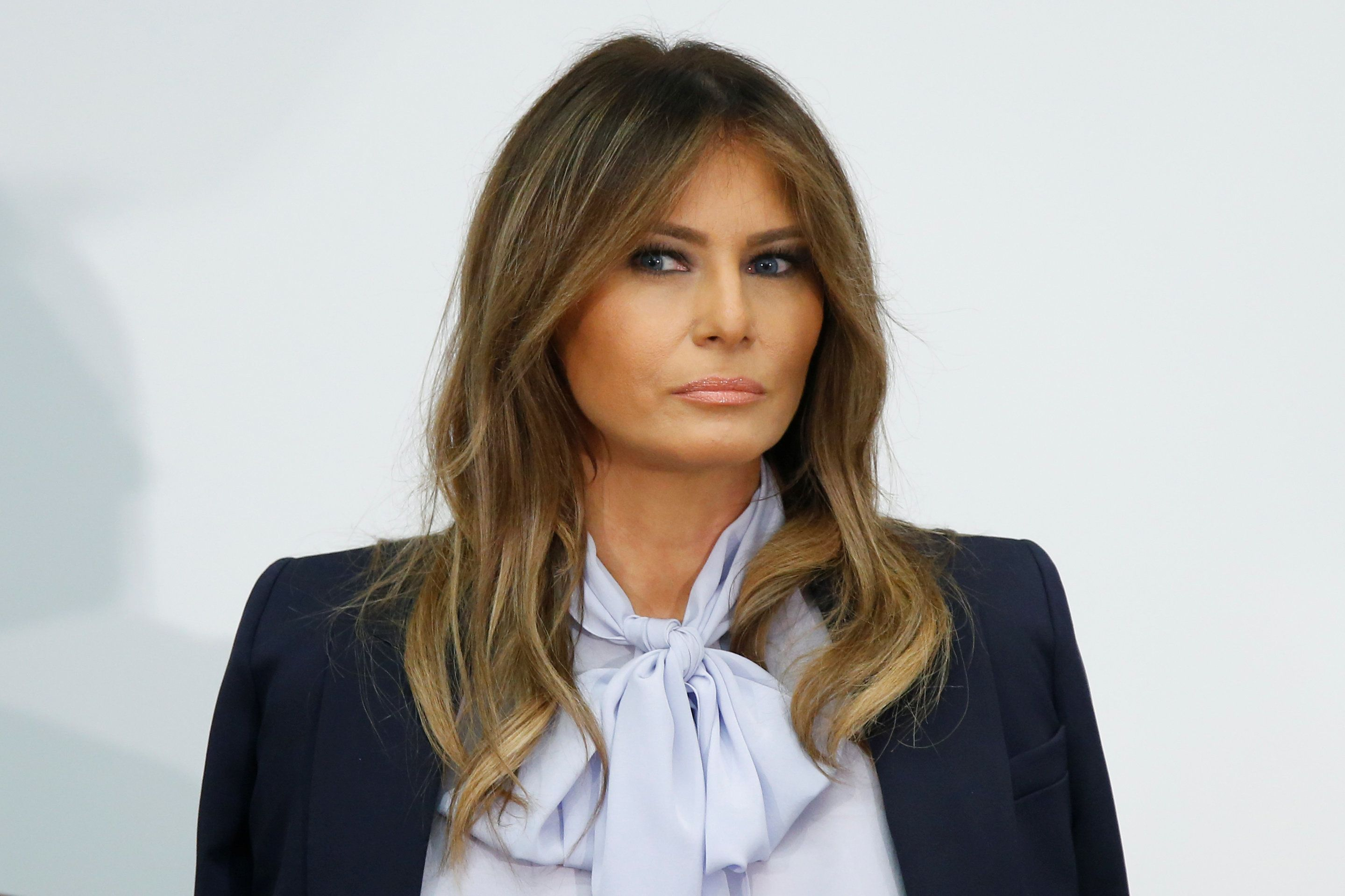 U.S. first lady Melania Trump attends the Federal Partners in Bullying Prevention (FPBP) Cyberbullying Prevention Summit on the positive and negative effects of social media on youth in Rockville, Maryland, U.S., August 20, 2018. REUTERS/Chris Wattie