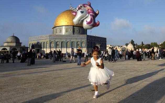 La joie de l'Aïd sur l'esplanade des mosquées à Al Qods