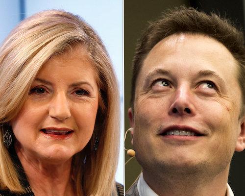 Arianna Huffington and Elon Musk discuss the need for sleep