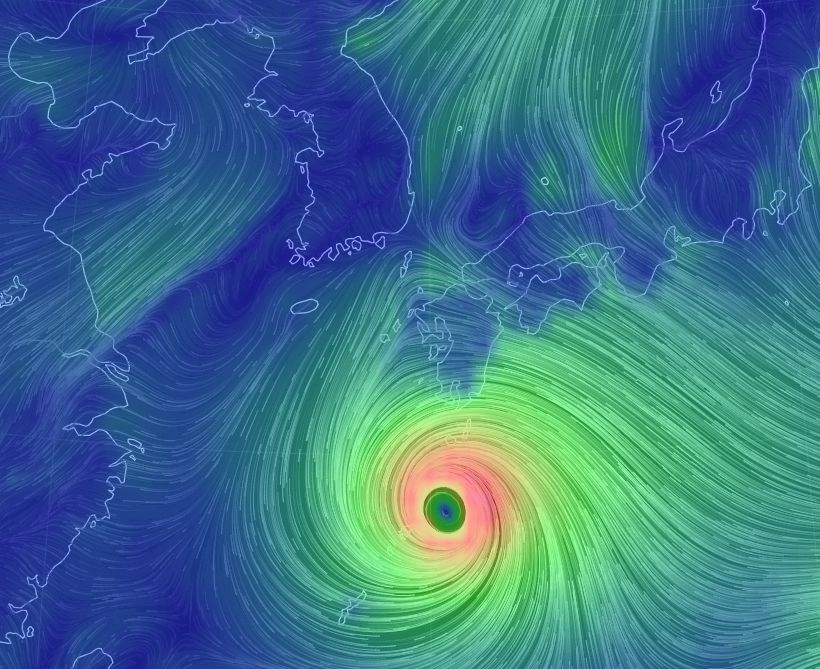 태풍 '솔릭'의 현재 위치를 실시간으로