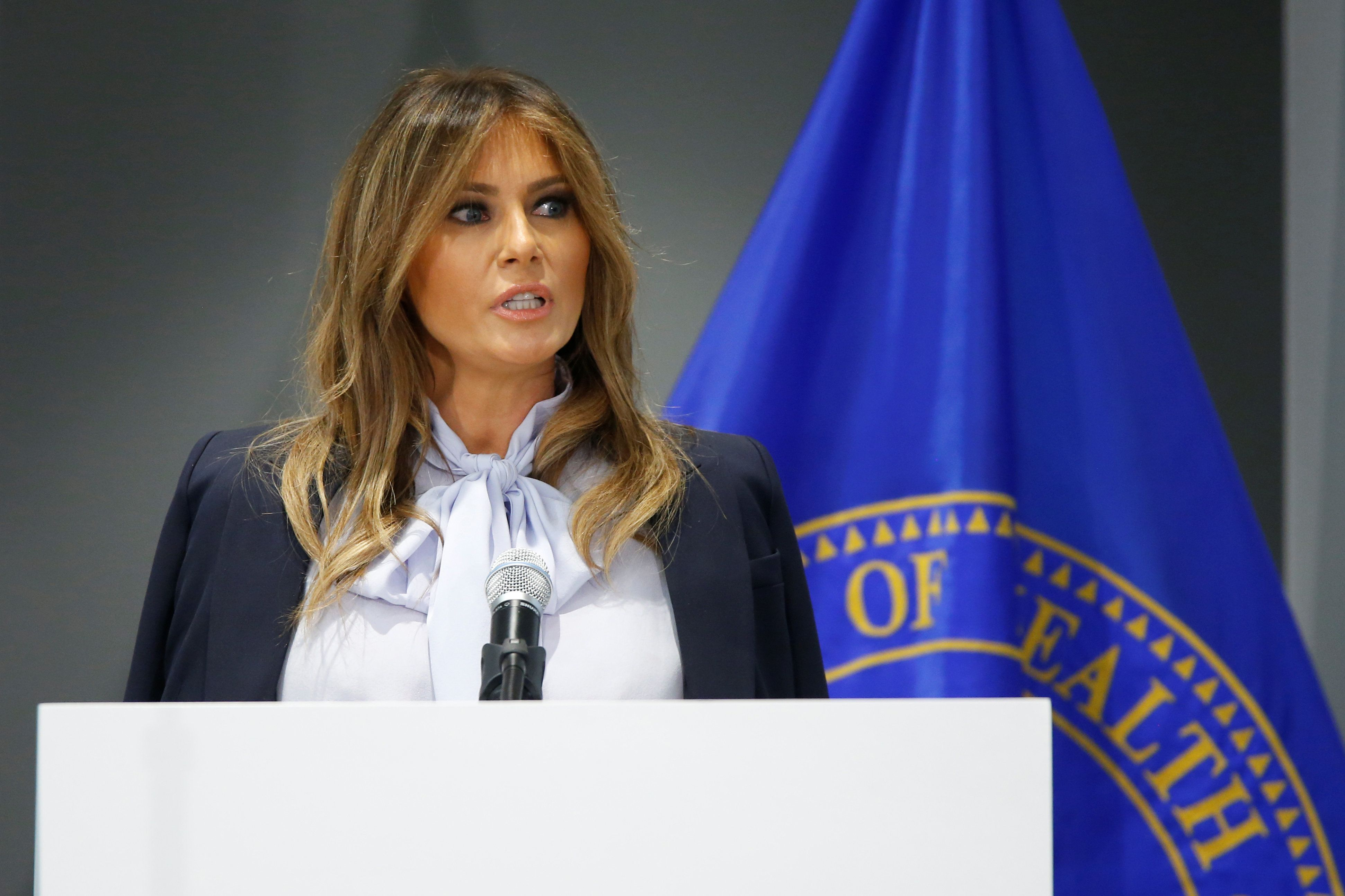 Melania Trump warnt vor Cyber-Mobbing – mit einem Seitenhieb auf ihren