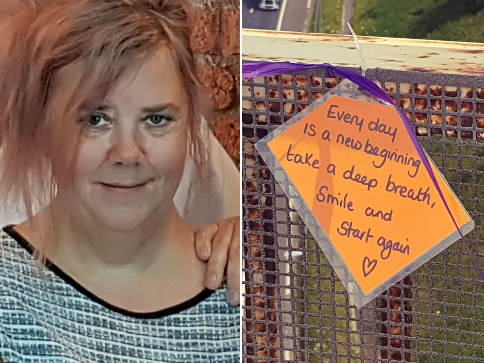 A Woman's Heartfelt Notes On Motorway Bridges Have Helped Save 14 Lives