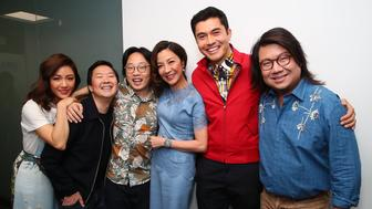 NEW YORK, NY - AUGUST 15:  (L-R)  Constance Wu, Ken Jeong, Jimmy O. Yang, Michelle Yeoh, Henry Golding and Kevin Kwan attend SiriusXM's Entertainment Weekly Radio Spotlight With The Cast Of 'Crazy Rich Asians' on August 15, 2018 in New York City.  (Photo by Astrid Stawiarz/Getty Images for SiriusXM)
