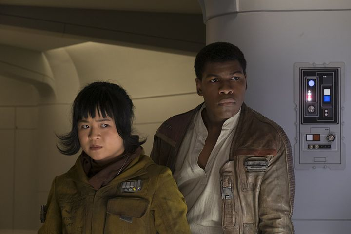 "Tran plays character Rose Tico alongside John Boyega (Finn) in ""Star Wars: The Last Jedi."""
