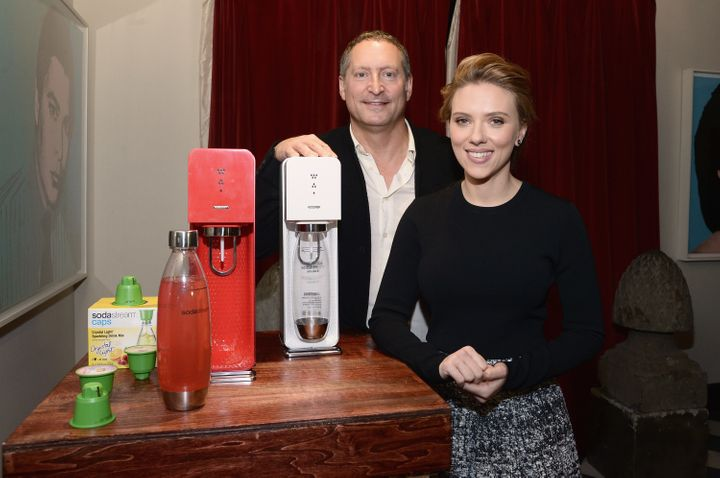 SodaStream unveils Scarlett Johansson as its first-ever Global Brand Ambassador at the Gramercy Park Hotel on January 10, 201