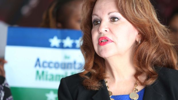 Bettina Rodriguez Aguilera, a former Doral city council member and the city's first economic director, will run to replace retiring Rep. Ileana Ros-Lehtinen in Congress in 2018. Rodriguez Aguilera said during a 2008 TV appearance that she has seen aliens extraterrestrials throughout her life. (Roberto Koltun/El Nuevo Herald/TNS via Getty Images)