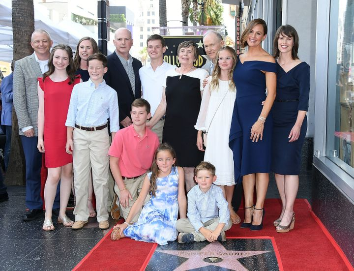 Garner and family at the Hollywood Walk of Fame ceremony.