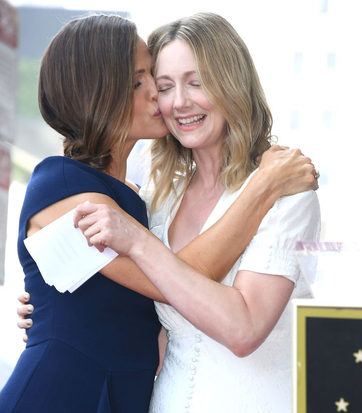 Garner and Judy Greer at the Hollywood Walk of Fame ceremony.