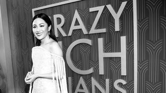 HOLLYWOOD, CA - AUGUST 07:  (EDITORS NOTE: This image has been converted to black and white) Actress Constance Wu arrives at Warner Bros. Pictures' 'Crazy Rich Asians' Premiere at Warner Bros. Pictures' 'Crazy Rich Asians' Premiere at TCL Chinese Theatre IMAX on August 7, 2018 in Hollywood, California.  (Photo by Emma McIntyre/Getty Images)