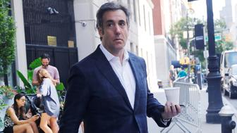U.S. President Donald Trump's former personal lawyer Michael Cohen exits his hotel in Manhattan, New York, U.S., July 31, 2018.  REUTERS/Shannon Stapleton