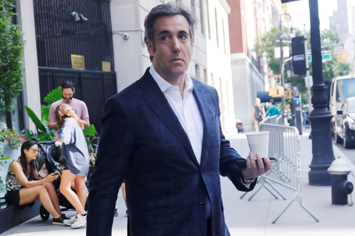 President Donald Trump's former personal lawyer Michael Cohen exits his hotel in Manhattan, New York on July 31, 2018. (REUTE