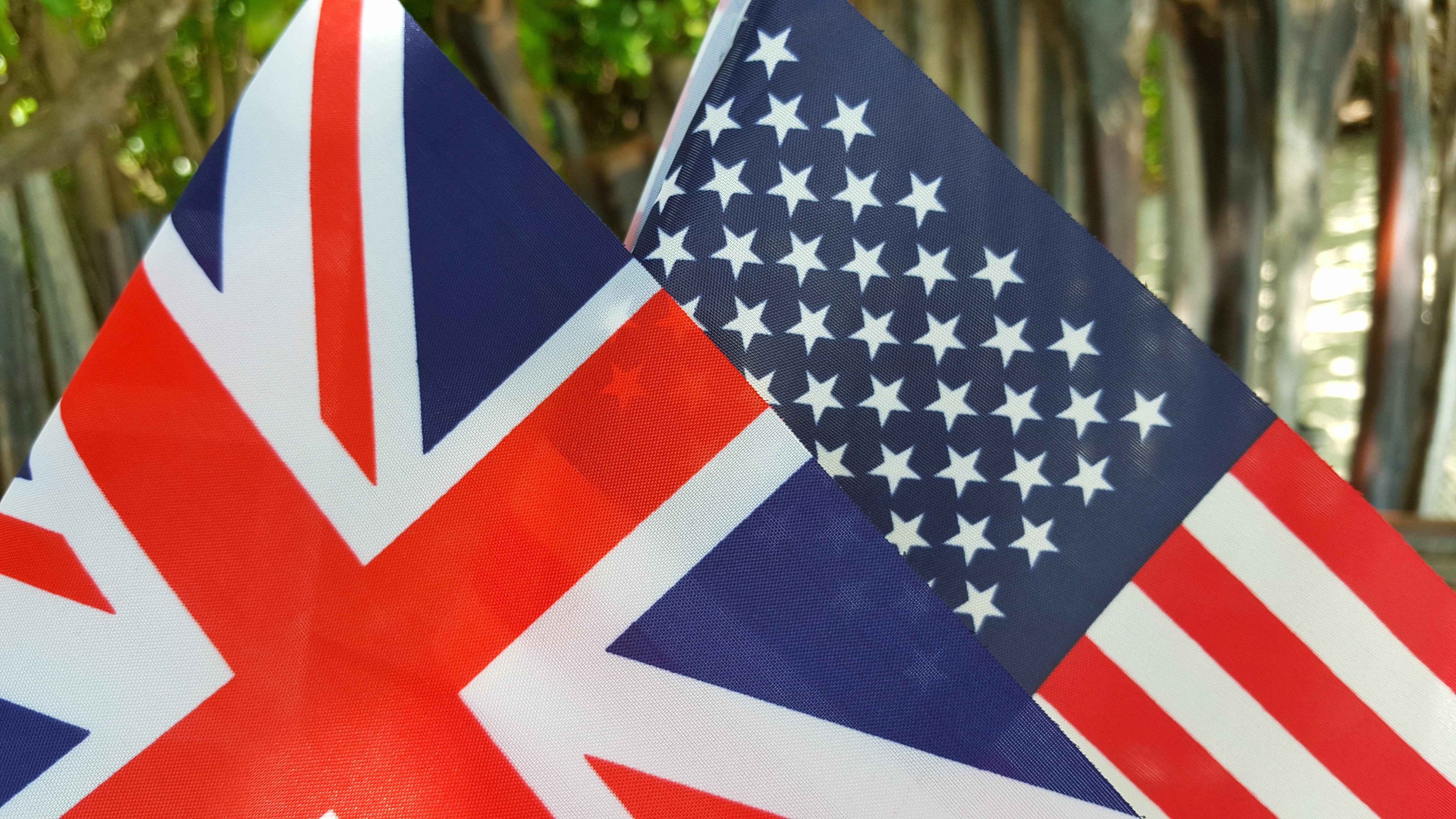 us usa american and uk union jackFlag background