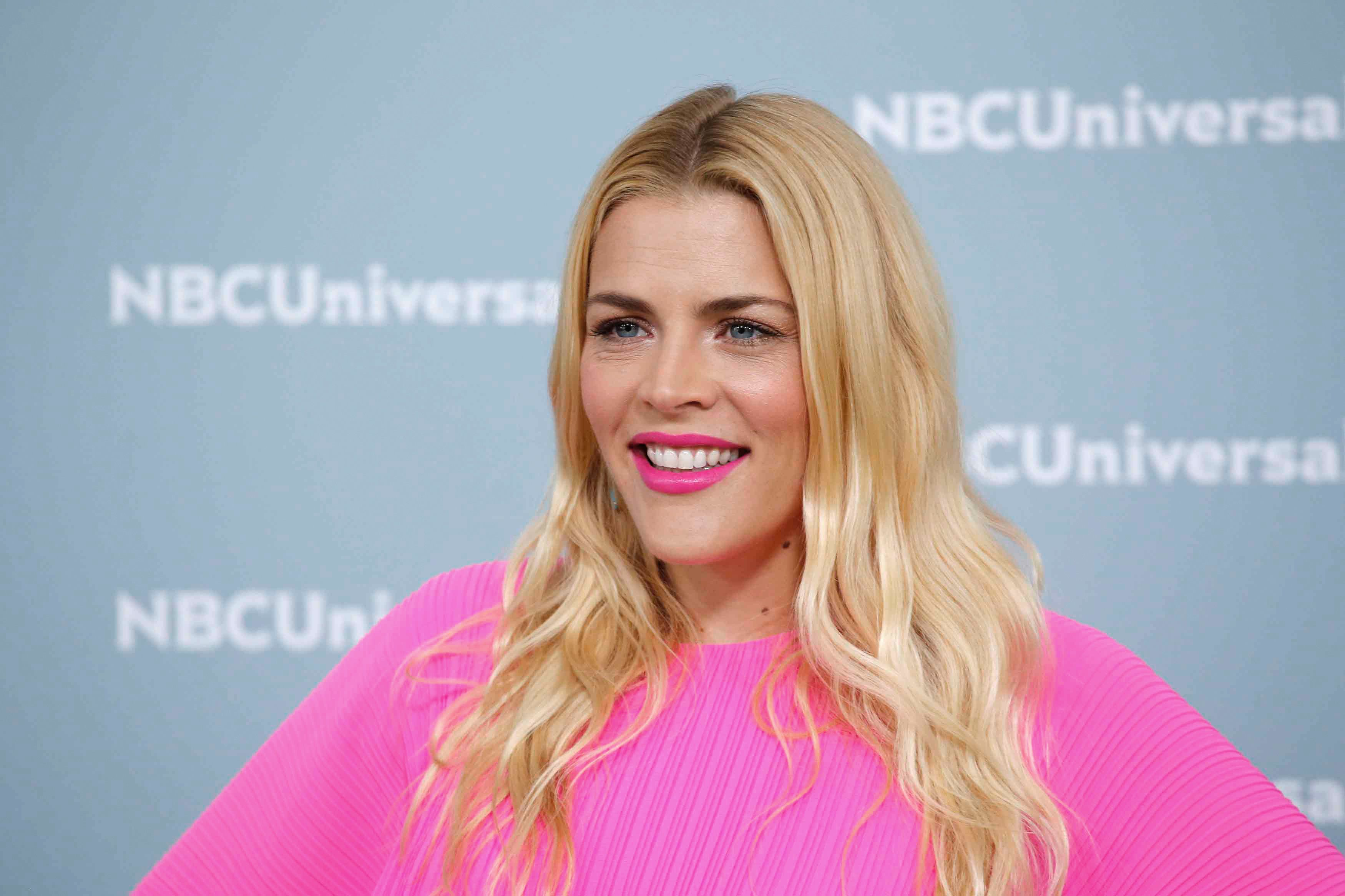Actress Busy Philipps attends the Unequaled NBCUniversal Upfront campaign at Radio City Music Hall on May 14, 2018 in New York. (Photo by KENA BETANCUR / AFP)        (Photo credit should read KENA BETANCUR/AFP/Getty Images)