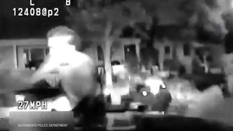 A Sacramento cop hit a teen with his police car -- and it was caught on camera