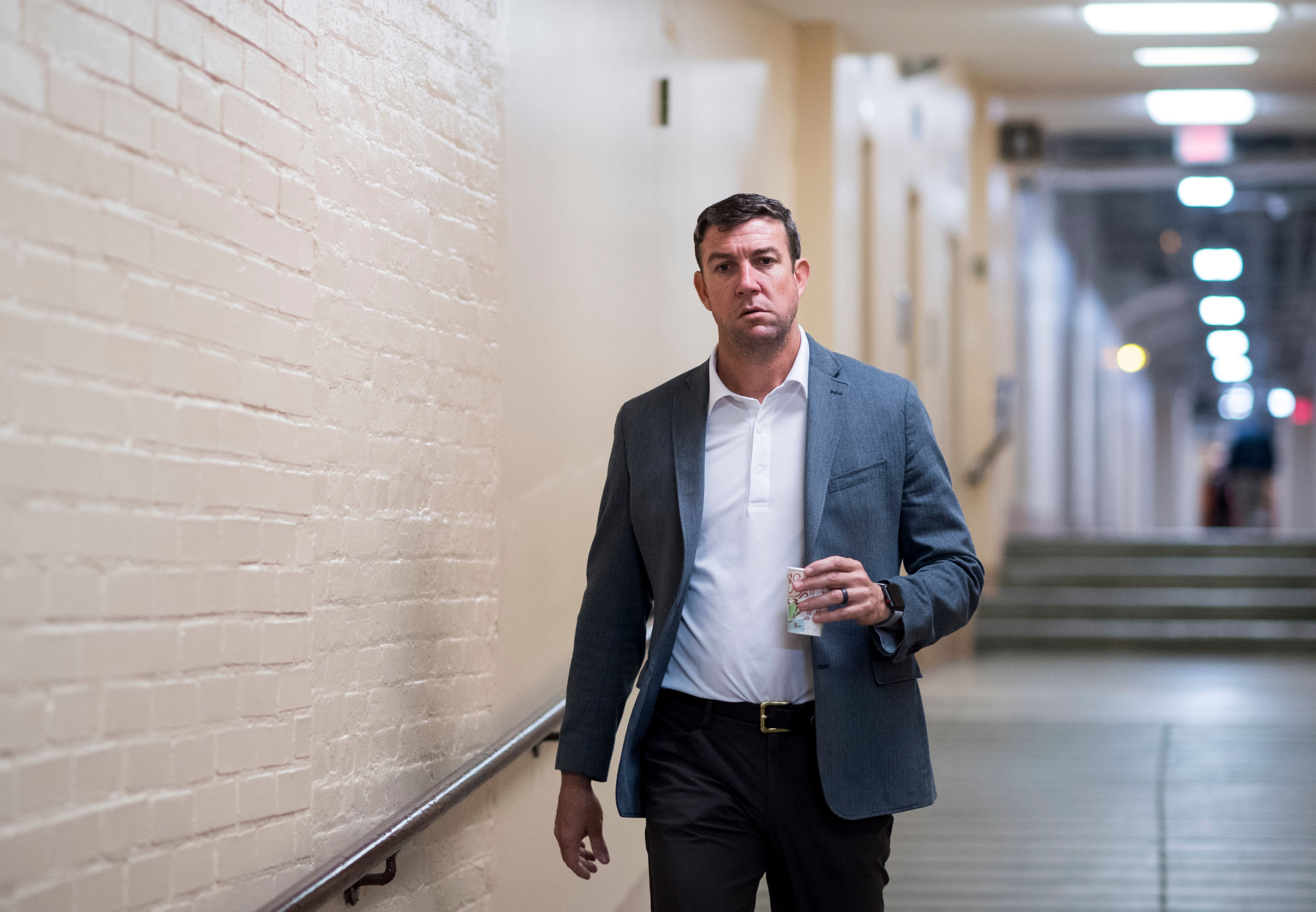 UNITED STATES - JANUARY 22: Rep. Duncan Hunter, R-Calif., arrives for the House Republican Conference meeting in the Capitol on Monday, Jan. 22, 2018. (Photo By Bill Clark/CQ Roll Call)