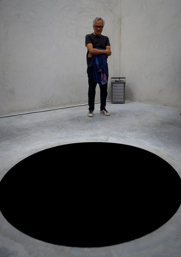 """British artist Anish Kapoor created """"Descent into Limbo,"""" which is on exhibit at the Serralves Museum in Porto, Portugal."""
