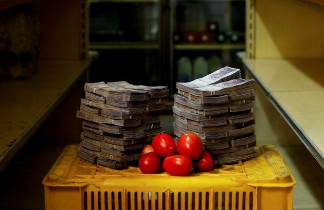 토마토 1kg에는 500만 볼리바르가