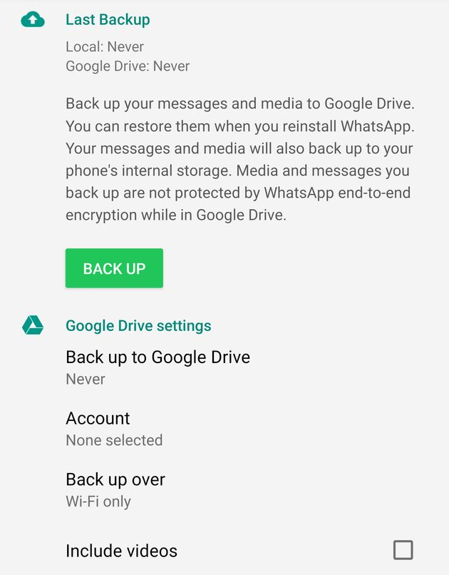 WhatsApp Will Delete Your Old Messages Unless You Backup To