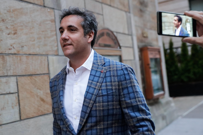 U.S. President Donald Trump's personal lawyer Michael Cohen exits a hotel in New York City, U.S., April 13, 2018. REUTERS/Jeenah Moon