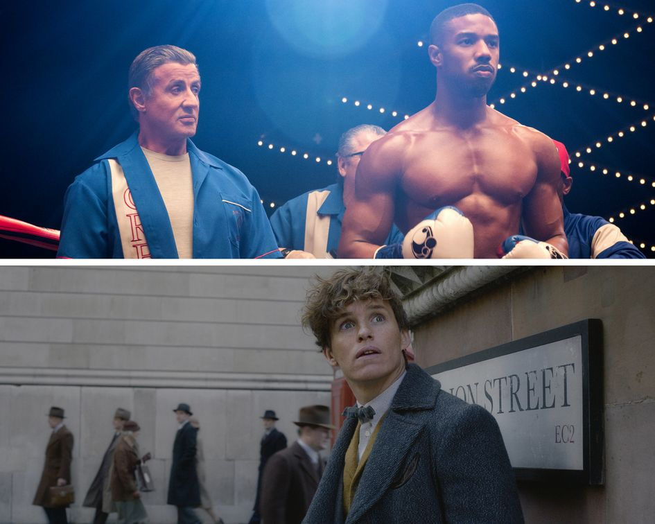 "Top: ""Creed II""; bottom: ""Fantastic Beasts: The Crimes of Grindelwald."""