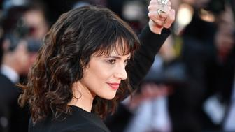 CANNES, FRANCE - MAY 19: Italian actress Asia Argento arrives for the screening of 'The Man who Killed Don Quixote' and Closing Awards Ceremony at the 71st Cannes Film Festival in Cannes, France on May 19, 2018. (Photo by Mustafa Yalcin/Anadolu Agency/Getty Images)