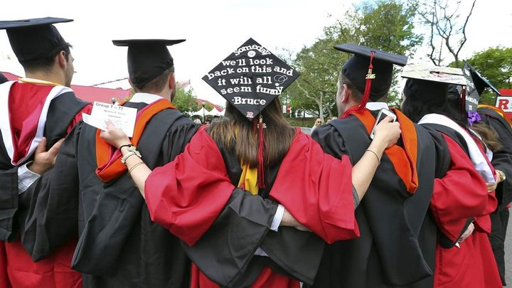 Students at Rutgers graduation ceremonies in Piscataway, New Jersey. The Education Department plans to publish more debt and