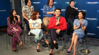 NEW YORK, NY - AUGUST 15:  (L-R) Awkwafina, Jimmy O. Yang, Constance Wu, Kevin Kwan, Henry Golding, Ken Jeong and Michelle Yeoh attend SiriusXM's Entertainment Weekly Radio Spotlight With The Cast Of 'Crazy Rich Asians' on August 15, 2018 in New York City.  (Photo by Astrid Stawiarz/Getty Images for SiriusXM)