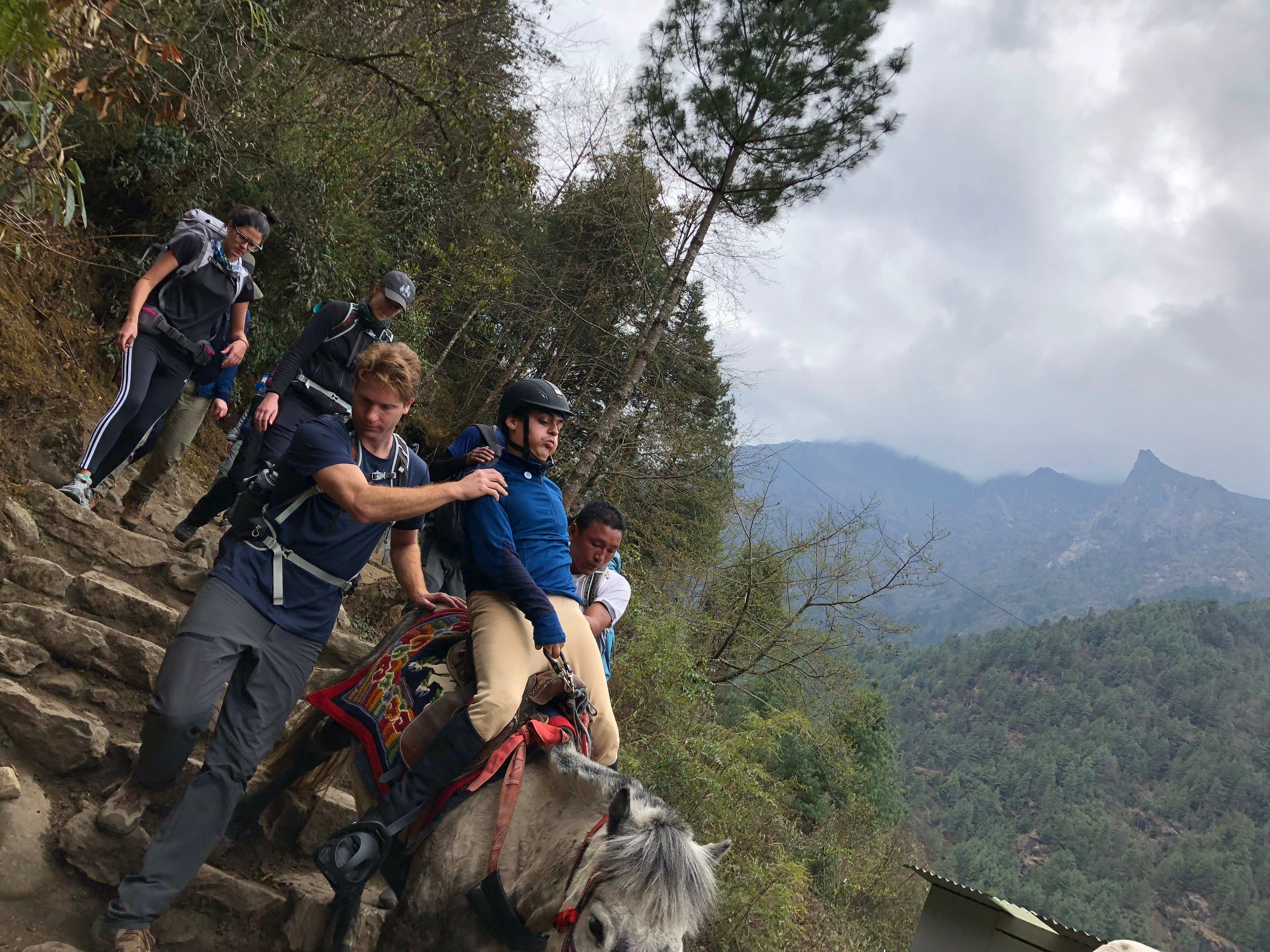 Max Stainton was the first person with cerebral palsy to trek to Everest base camp on horseback
