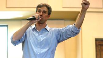 HORSESHOE BAY, TX - AUGUST 16: U.S. Rep Beto O'Rourke (D-TX) of El Paso speaks during a town hall meeting at the Quail Point Lodge on August 16, 2018 in Horseshoe Bay, Texas. ORourke will be challenging incumbent Sen. Ted Cruz (R-TX) for the senate seat in the November elections. (Photo by Chris Covatta/Getty Images)
