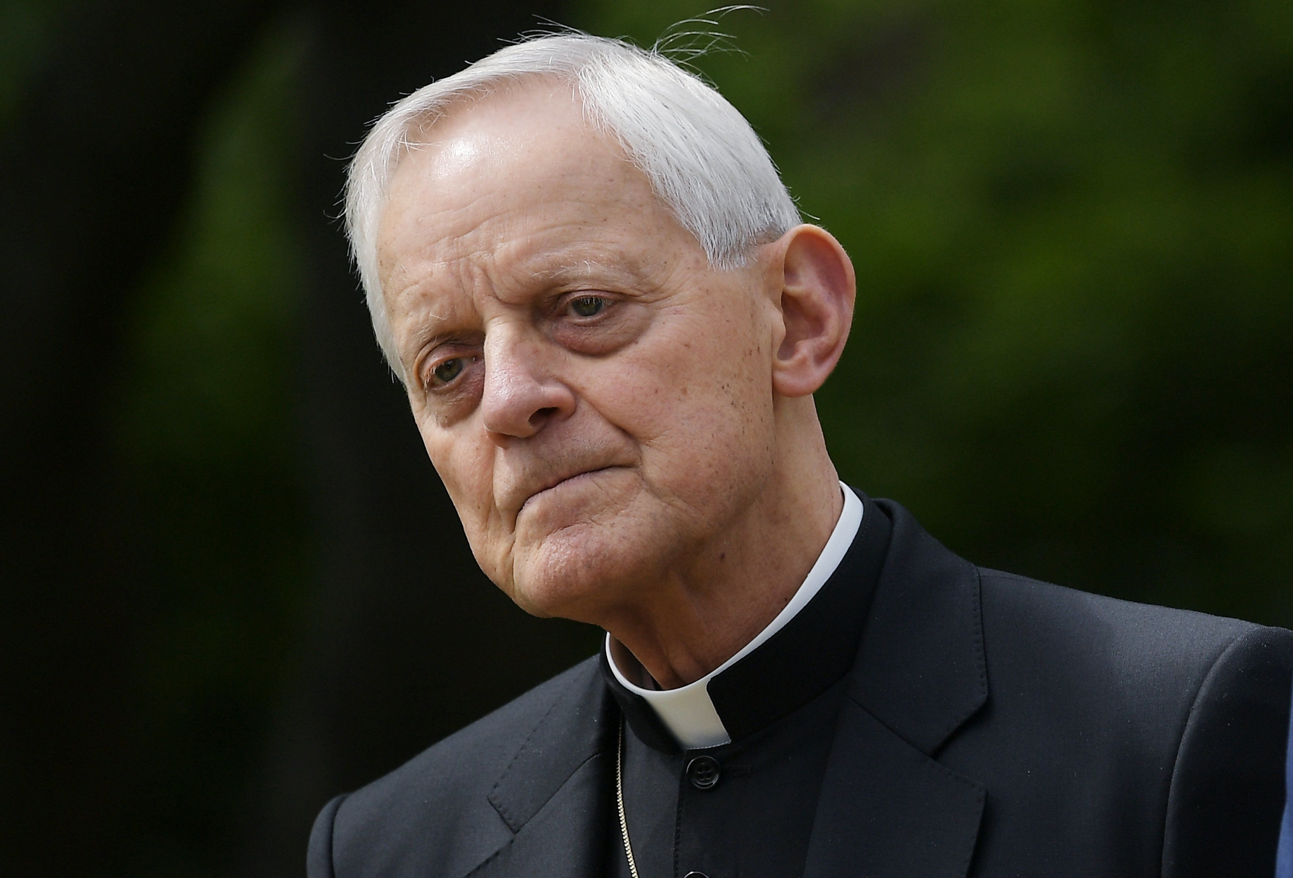 Archbishop of Washington Donald Wuerl attends a signing ceremony for an Executive Order on Promoting Free Speech and Religious Liberty in the Rose Garden of the White House on May 4, 2017 in Washington, DC. Trump issued an executive order on Thursday making it easier for churches and religious groups to take part in politics without risk of losing their tax-exempt status, a senior White House official said. / AFP PHOTO / MANDEL NGAN        (Photo credit should read MANDEL NGAN/AFP/Getty Images)