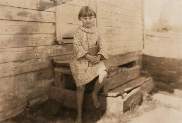 A girl's first day of school in Pocahontas County, West Virginia, circa 1921.